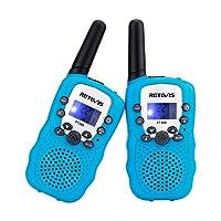 Retevis RT-388 Kids Walkie Talkies LCD Display VOX Scan Flashlight Walkie Talkies Toys for Children(Blue,1 Pair)