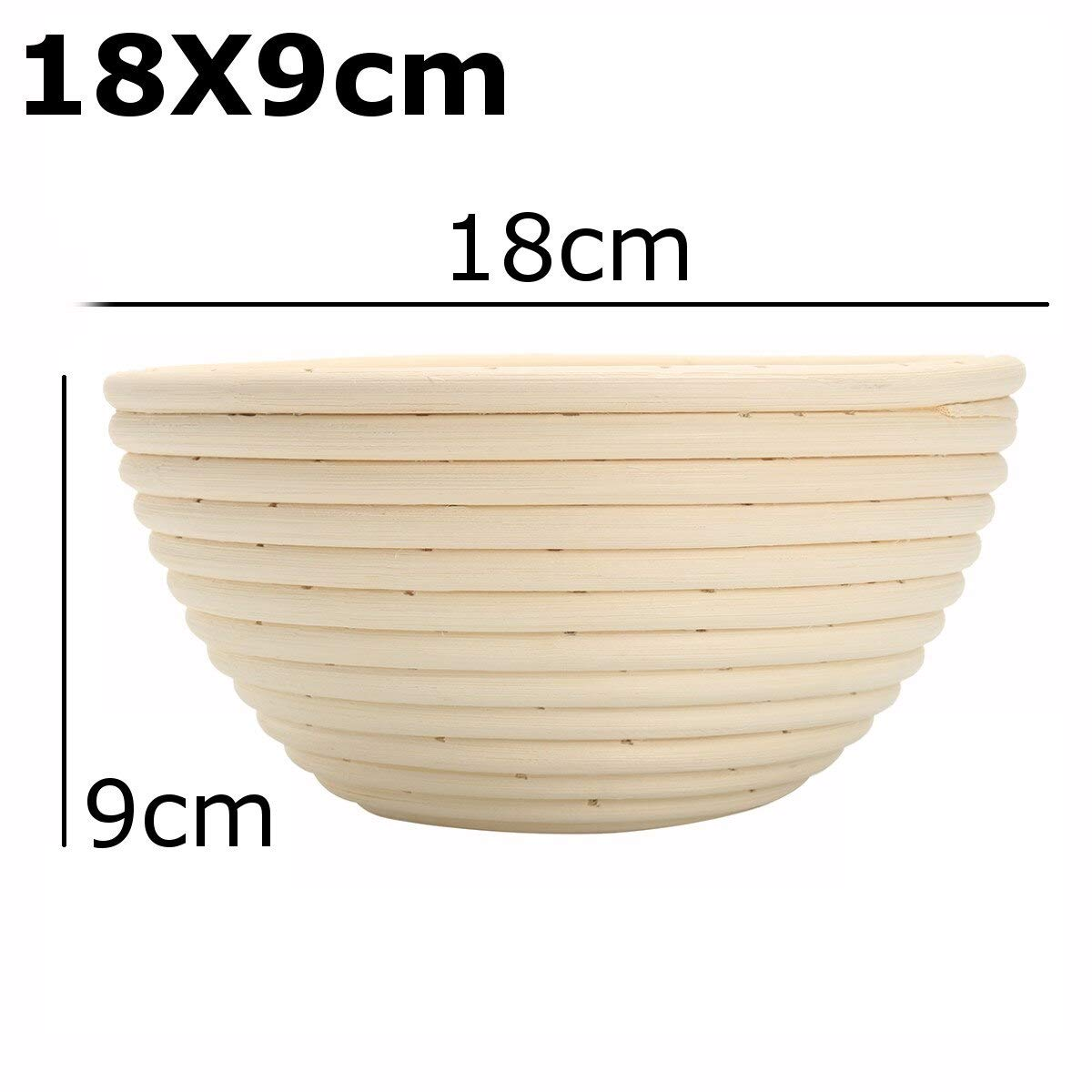 Best Quality - Storage Baskets - Bread Basket Banneton Brotform Rattan Proofing Basket Liner Round Oval Fruit Tray Dough Food Storage Container Organizer Basket - by GTIN - 1 PCs by HIBISCUS. (Image #6)