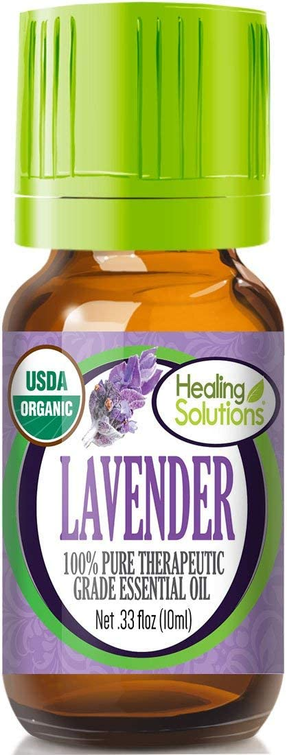 Organic Lavender Essential Oil (100% Pure - USDA Certified Organic) Best Therapeutic Grade Essential Oil - 10ml