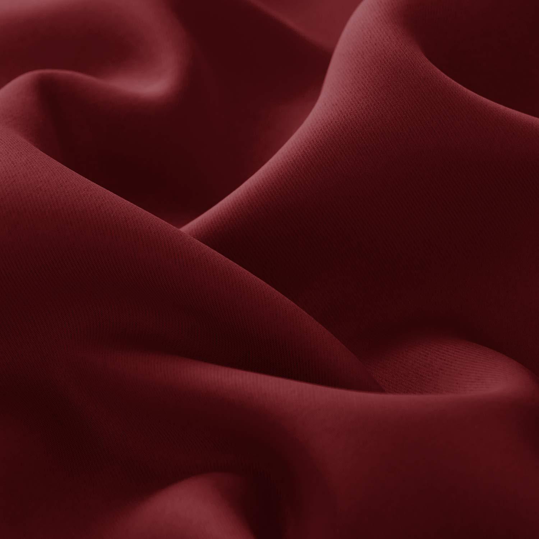 Deconovo Cortinas Termicas Aislantes Frio y Calor para Dormitorio Matrimonio Salón Hotel Casa Exterior con Ojales 1 Panel 140 x 180 cm Rojo Oscuro: ...