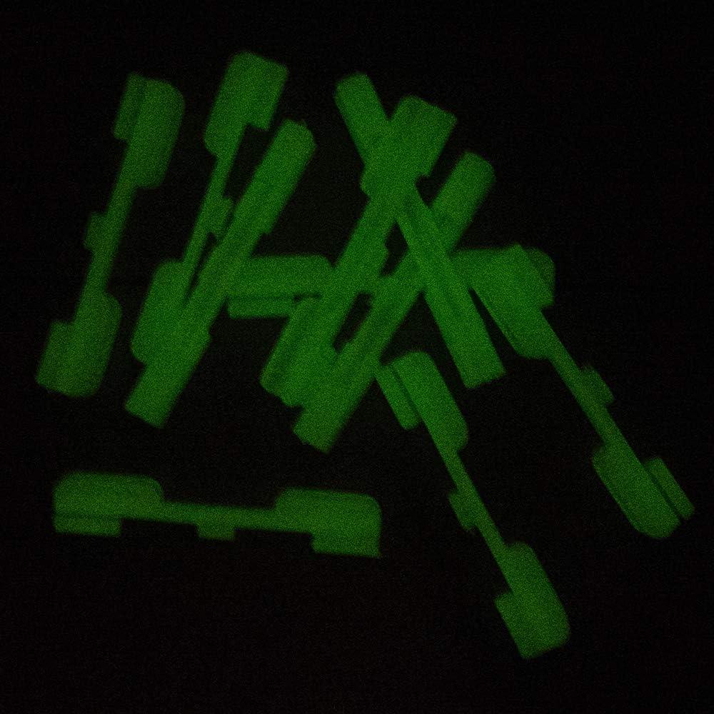 10pcs Noche Clip de Tenedor de luz de Punta de ca/ña de Pescar para ca/ña de Pescar para qu/ímica Light Stick Walmeck