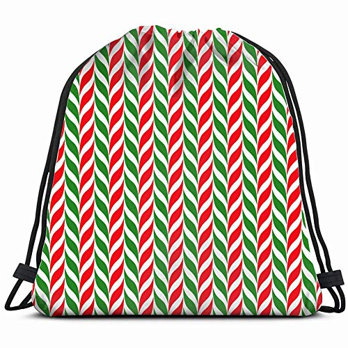 - candy canes xmas christmas holidays Drawstring Backpack Gym Sack Lightweight Bag Water Resistant Gym Backpack for Women&Men for Sports,Travelling,Hiking,Camping,Shopping Yoga