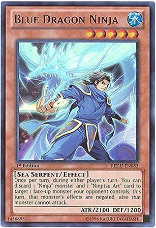 Amazon.com: Yu-Gi-Oh! - Blue Dragon Ninja (REDU-EN083 ...