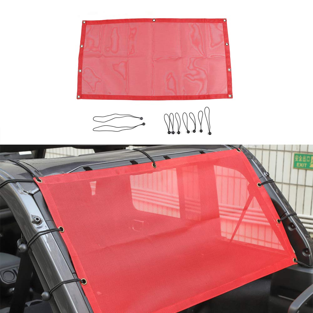 4-Door Roof Anti UV Sun Protection Mesh Net for Jeep JL Wrangler 2018 Up 4-Door BORUIEN Red PVC Trunk Insulation Net Sunshade Cover Trim for Jeep Wrangler JL 2018