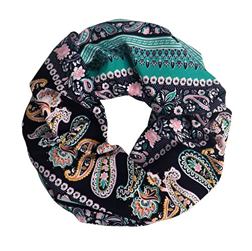 (Peach Couture Vintage Womens Bohemian Design Infinity Loop Scarves (Teal Paisley))