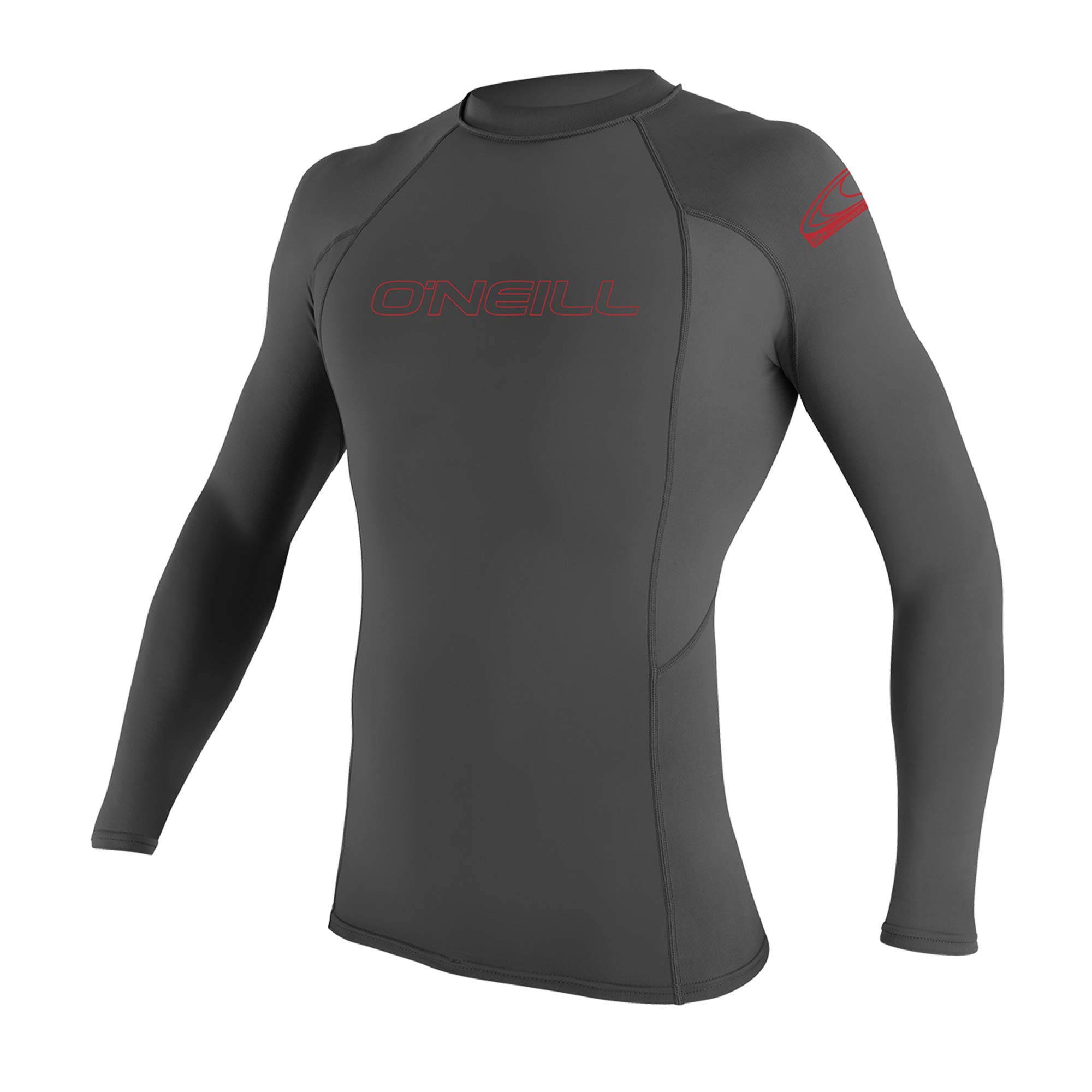 O'Neill Youth Basic Skins UPF 50+ Long Sleeve Rash Guard, Graphite, 8 by O'Neill Wetsuits