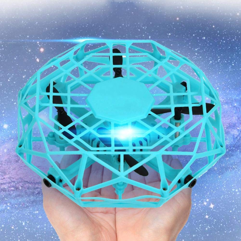 UFO Flying Toys 5 Sensing Ports Gesture-Sensing Infrared Remote Control Flight Easy to Use USB Charging for Boys Girls Kids Gifts