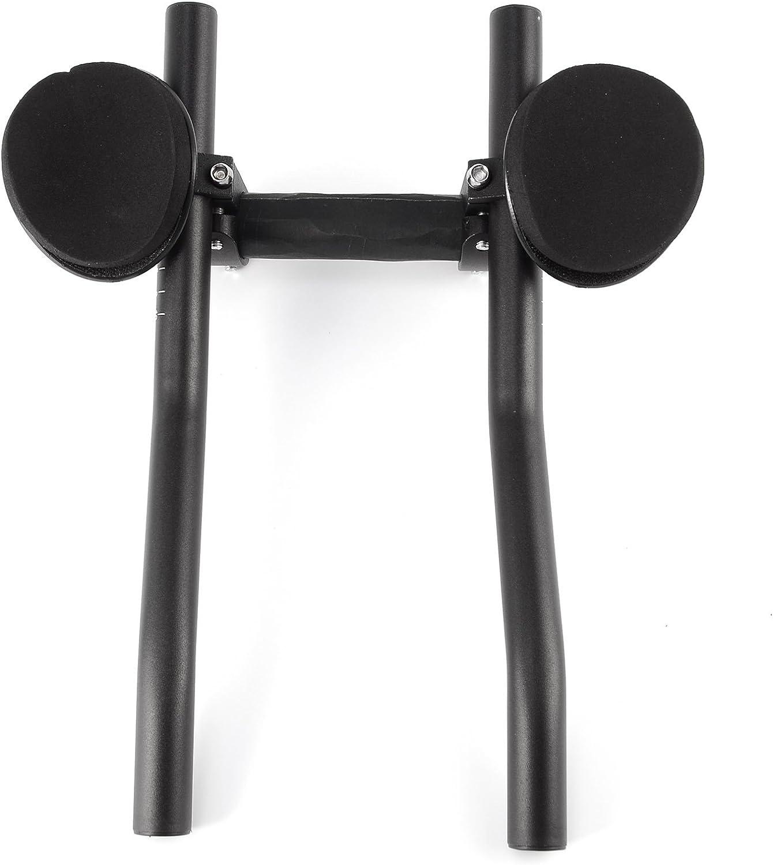 34cm de Largo Surepromise Manillar para Triathlon Barras de Descanso para Bicicleta de Carrera Negro Clip On Triathlon Bars