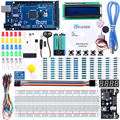 ELEGOO Mega 2560 R3 Project Starter Kit for Arduino Mega2560 UNO R3 Mega328 Nano - Including 16 Tutorials CD by ELEGOO
