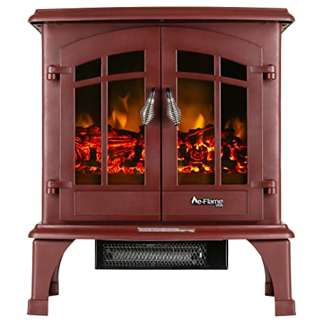 Buy Jasper Portable Electric Fireplace Stove by e-Flame USA (Matte Black) - This 23-inch Tall Freestanding Fireplace Features Heater and Fan Settings with Realistic and Brightly Burning Fire and Logs: Home & Kitchen - Amazon.com ? FREE DELIVERY possible o