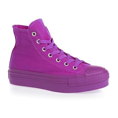 6a7e212c2e0aa1 Converse Chuck Taylor All Star Platform Hi Shoes - Purple Cactus Flower   Amazon.co.uk  Shoes   Bags