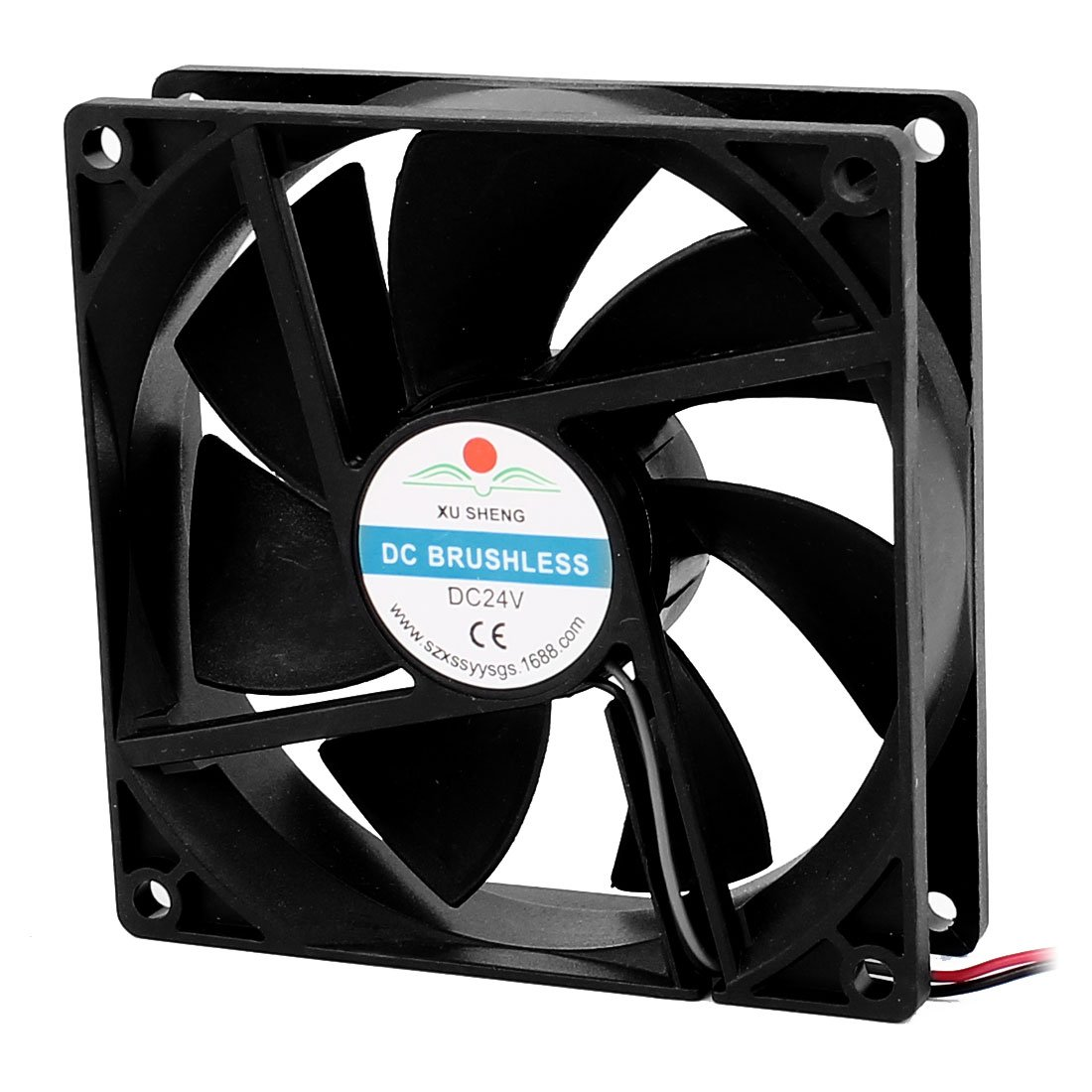 uxcell a16032900ux1695 DC 24V 90mmx90mmx25 mm 7 Vanes Pc CPU Computer Cooling Fan w Metal Finger Guard, 3.54 inches Width, 3.54 inches Length