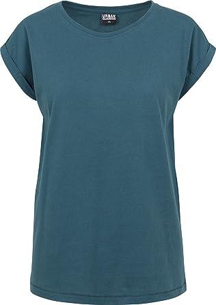 47e3ecabcd6c59 Urban Classics Damen T-Shirt Ladies Extended Shoulder Tee  Amazon.de ...