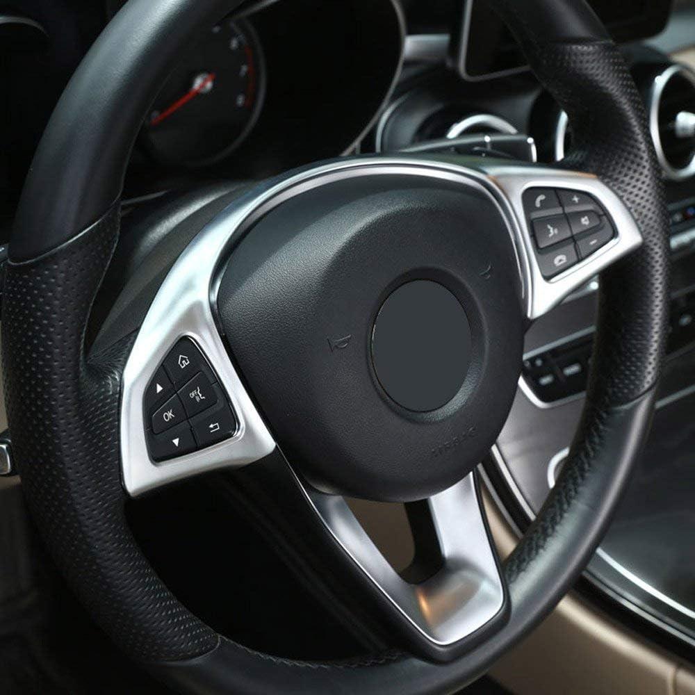 AUTO Pro for Mercedes Benz C Class W205 GLC X253 E Class W213 2016-2018 ABS Plastic Steering Wheel Decoration Frame Trim Cover Car Interior Matt Silver