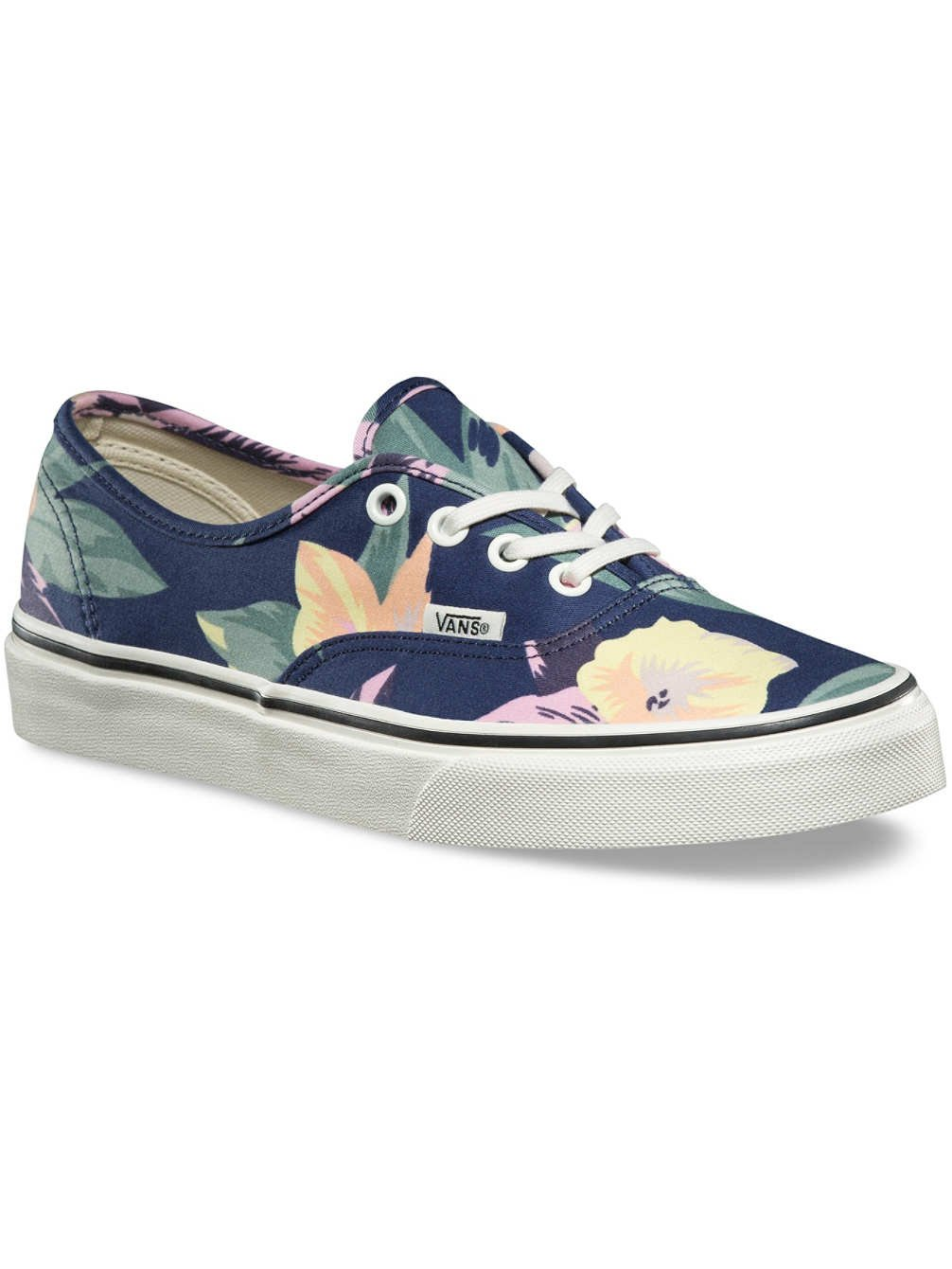 Vans Authentic Vintage Floral Navy/Marshmallow Ankle-High Canvas Skateboarding Shoe - 7M 5.5M by Vans