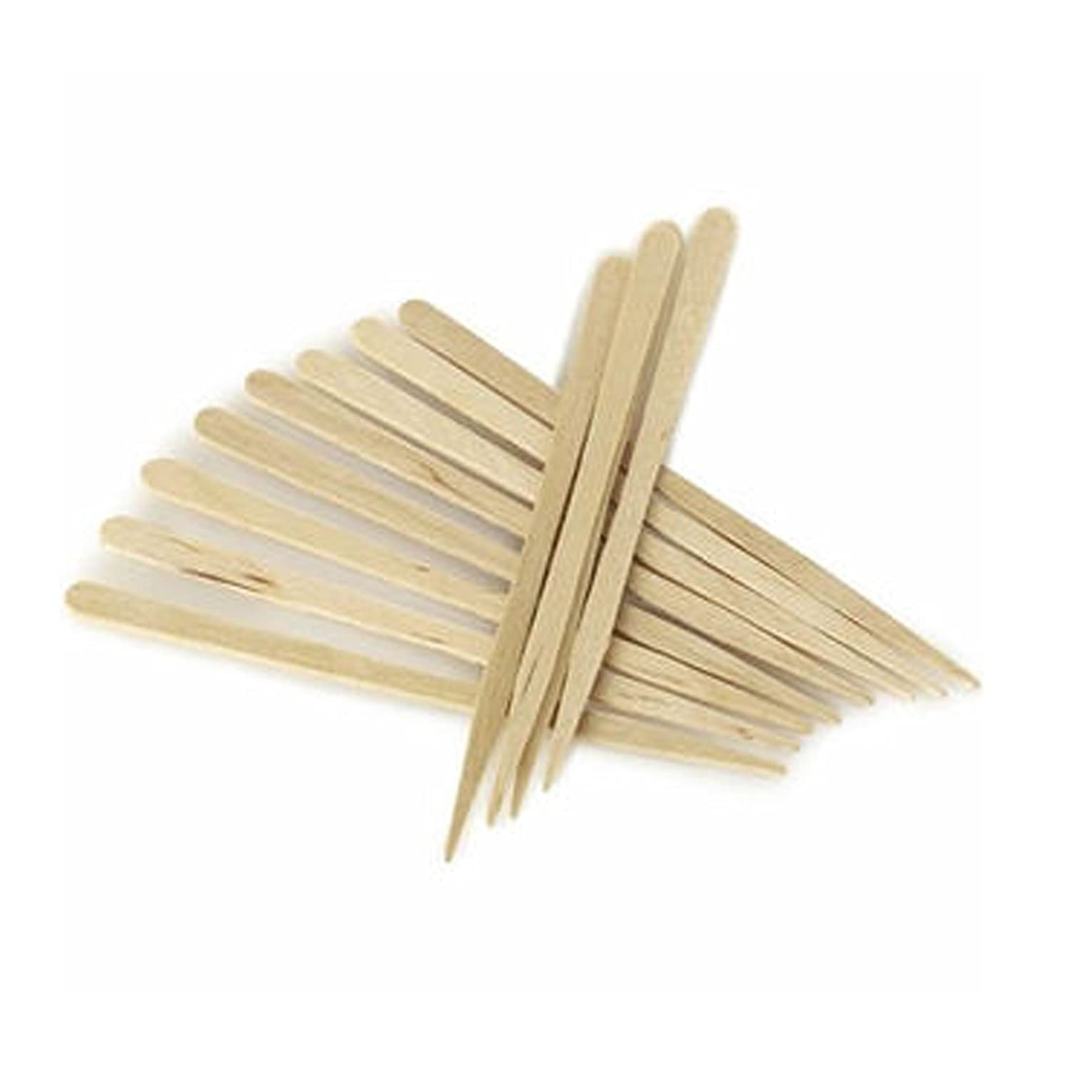 206 Eyebrow Small Wooden Wood Tongue Depressors Spatulas Wax Waxing Tatoo Sticks by Plain