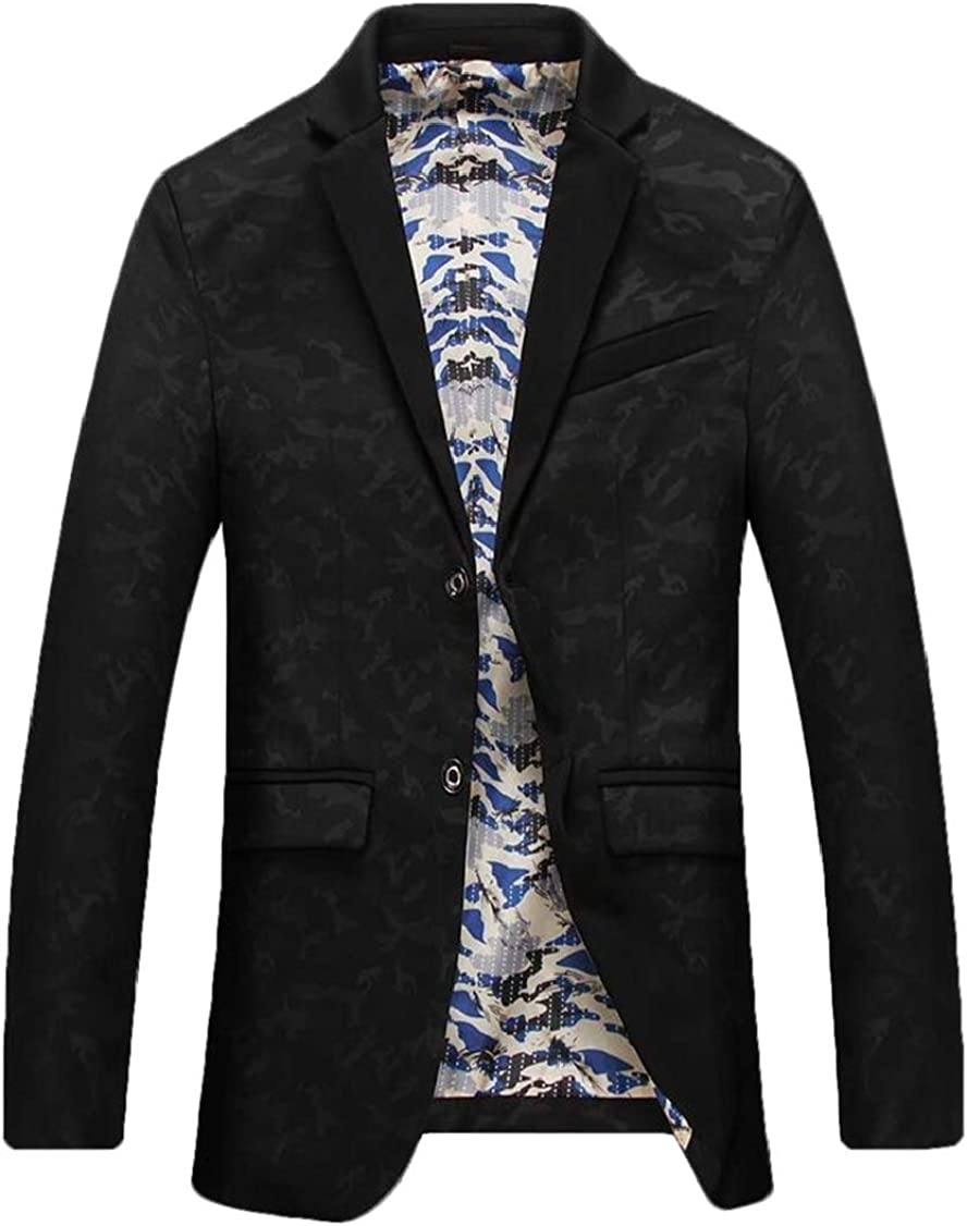 Rrive Men Print Business Single Breasted Classic Blazer Suit Jackets