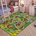 "JACKSON Large Road Kid Rug With Non-Slip Backing ,52""x 74"" Learning Carpet For Playroom and Nursery"