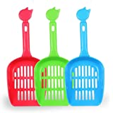 Cat Litter Scoop, TIOVERY Pet Cleaner Scooper Shovel Sand Waste Scoop for Cat Dog Dove (colors vary)