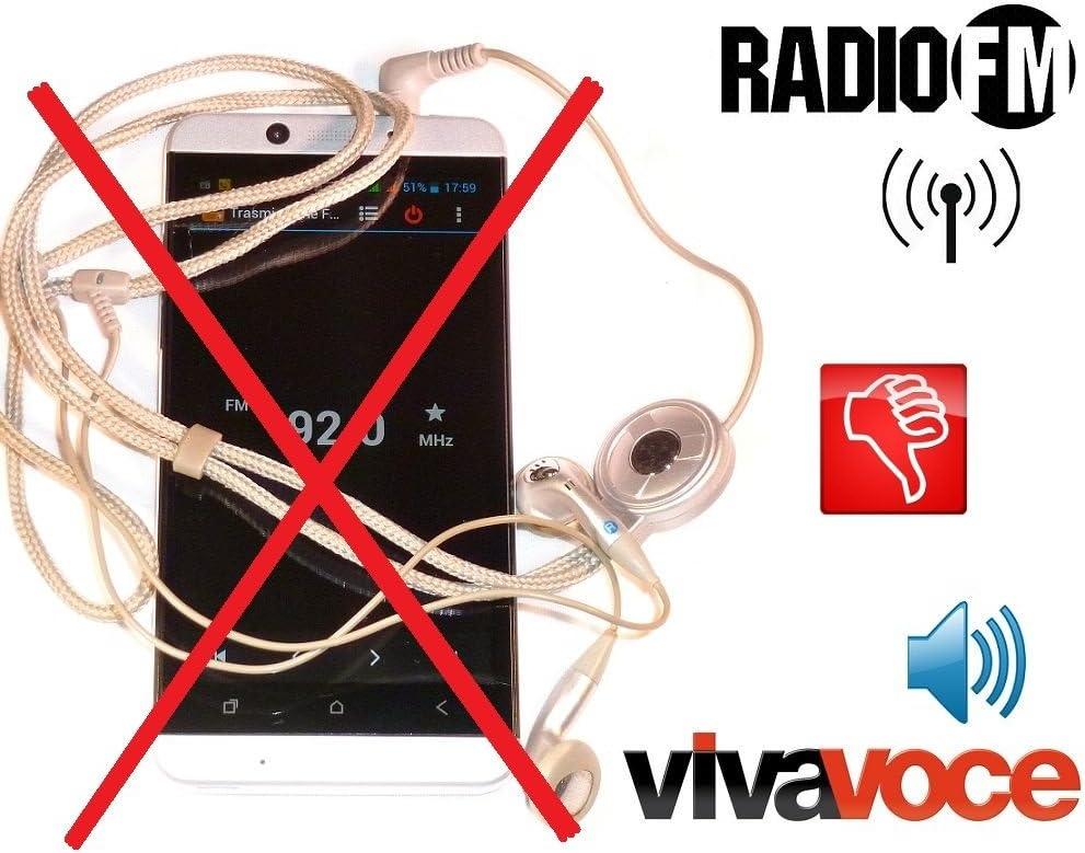 Metal antjack Antena Radio FM simula auricular Viva Voz para ...