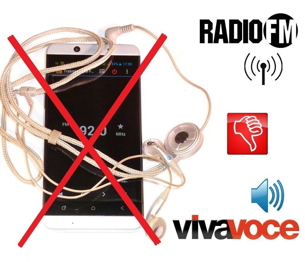 Metal antjack Antenna FM Radio simulates Viva Voice Headset for Smartphones Mobile Phones 3.5/mm Jack Metal Chrome