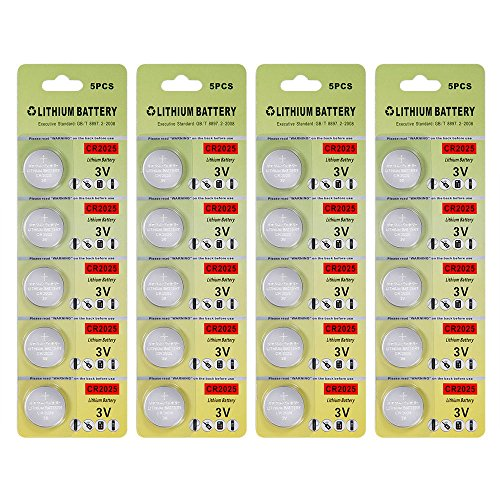 Cr2025 Lithium Battery (Fortune CR2025 3 Volt Lithium Coin Battery - Retail Packaging (Pack of 20))