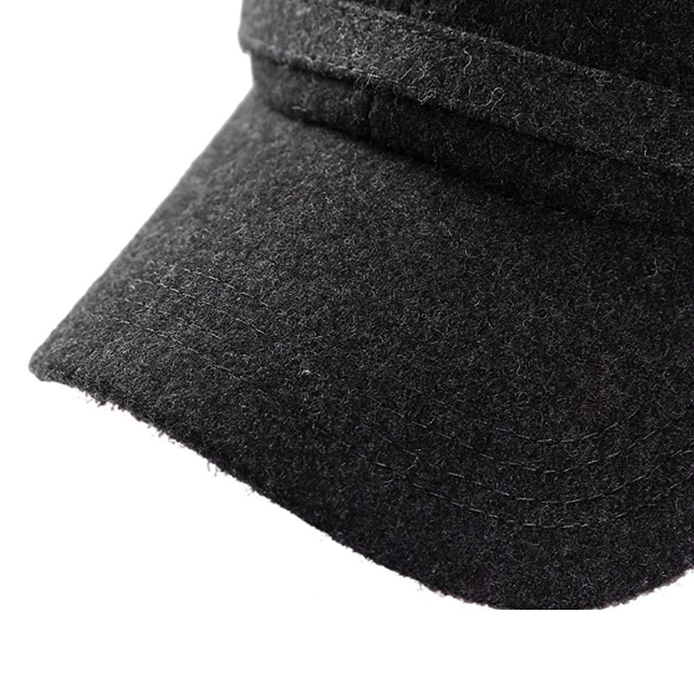 YOYEAH Winter Wool Baseball Cap Outdoor Windproof Fleece Earflap Hat Soft Faux Fur Hunting Hat for Men Black by YOYEAH (Image #6)