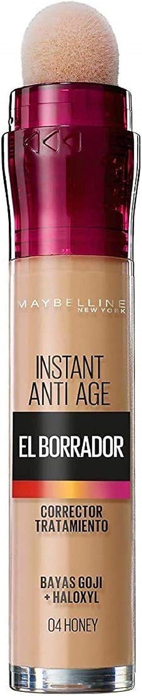 Maybelline New York - - Corrector de Ojeras, Bolsas e Imperfecciones Borrador Ojos, Tono 04 Honey pieles medias, 6.8 ml