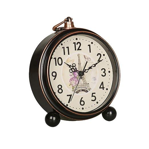 Lily Despertador silencioso Retro Reloj Despertador de Escritorio ...