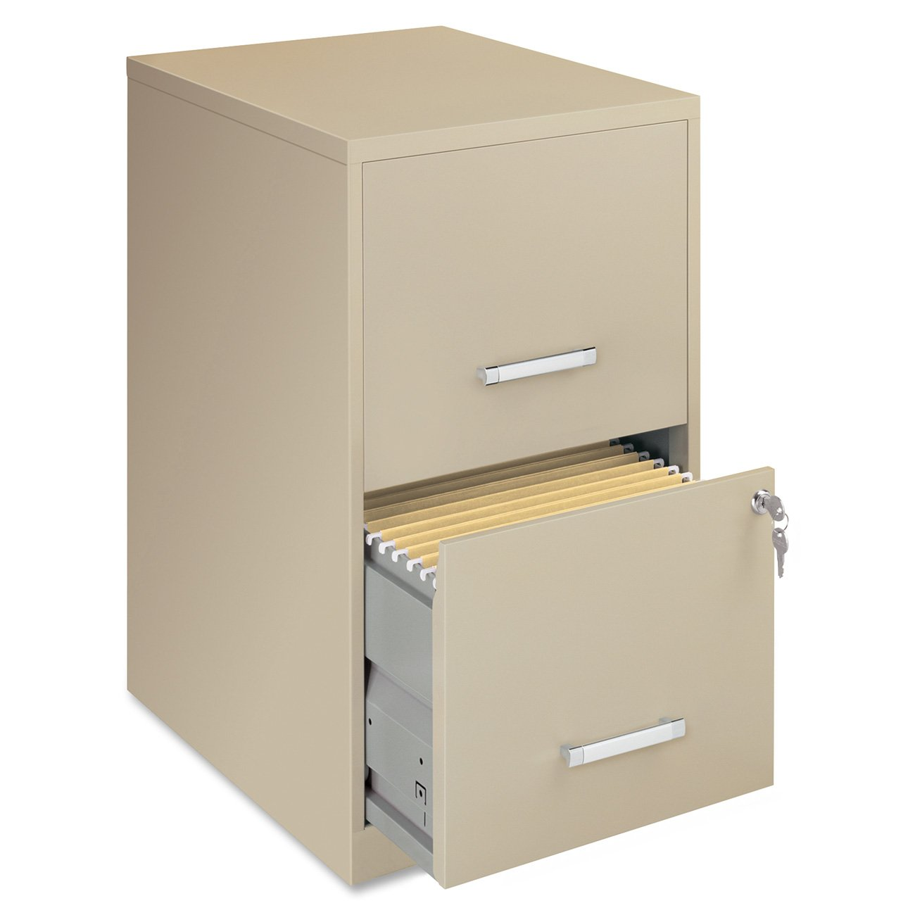Lorell 14340 18 Deep 2-Drawer File Cabinet, Putty