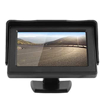 Laurelmartina Estilo clásico 4.3 TFT LCD Monitor de Coches retrovisores para DVD GPS cámara de Reserva inversa Accesorios de conducción de vehículos: ...