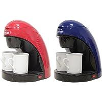 JOLTA® / SCHAEFER Kaffeemaschine für 2 Personen Inklusive Permanentfilter und 2 Porzellantassen
