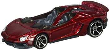 LAMBO AVENTADOR J Hot Wheels 2013 HW Showroom Series RED Lamborghini  Aventador J Roadster 1: