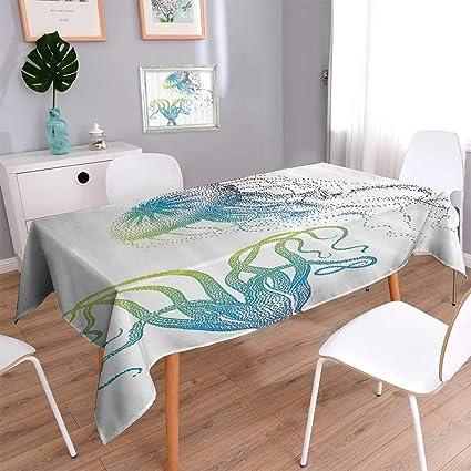 Amazon Indooroutdoor Polyester Tablecloth Jellyfish Nautical