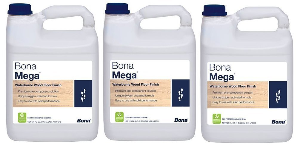 Bona Mega Wood Floor Finish Satin Contractor Pack 3 Gallon