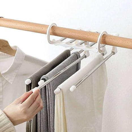Erholi Multi Layers Hangers Closet Jeans Trousers Storage Organizer Rack Tie Racks