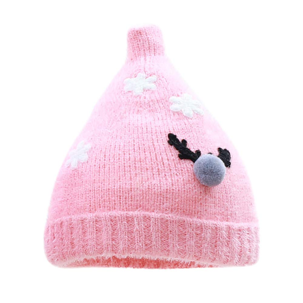 Hat for Men Sun Protection,Unisex Christmas Nipple Knit Autumn Winter Baby Hair Ball Wool Velveted Hat Cap,Baby Boys' Accessories,Watermelon Red,One Size