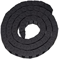 Haobase 10mm x 20mm en plastique Noir Corde Semi fermé Drag Chain Cable Transporteur 1m de long