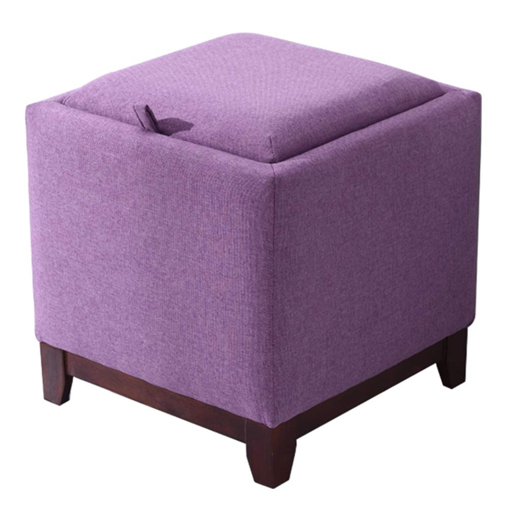 Purple 404042cm ZHAOYONGLI Storage Stool Household Coffee Table Stool Living Room Small Stool Cloth Change shoes Bench Multifunction Creative Solid Durable Long Lasting (color   Purple, Size   40  40  42cm)
