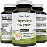Pure Natural Digestive Enzymes for Women & Men - Protein + Carbohydrates - Stop Bloating & Flatulence With Protease Enzyme + Bromelain Supplements + Lactase Pills + Acidophilus By Nature Bound