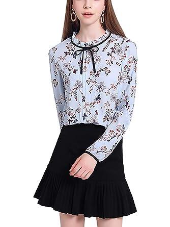 67d271f160d1b9 Womens Bow Tie Neck Long/Short Sleeve Casual Office Work Chiffon Blouse  Shirts Tops #