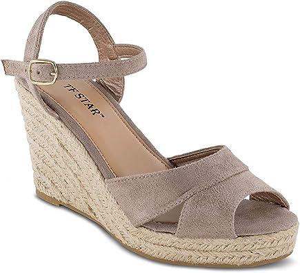 TF STAR Jute Rope Wedge Sandals