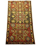 Turkish handmade doormat handwoven bath mat small rug Boho rug Turkish rug welcome mat bathroom rug 3 x1.4 feet HY-29