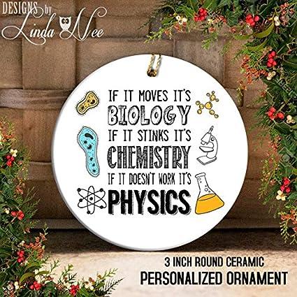Geek Christmas Ornaments.Amazon Com Ornaments Biology Chemistry Physics Christmas