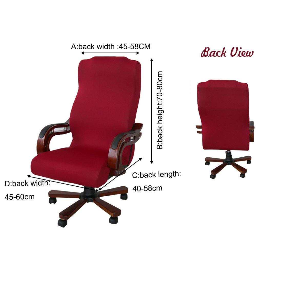 Amazon.de: Computer Removable Stuhlhussen für Bürostuhl drehbar ...