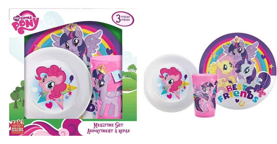 Amazon.com My Little Pony 3-piece Kids Plastic Plate Bowl \u0026 Cup Dinnerware Se in Box Kitchen \u0026 Dining  sc 1 st  Amazon.com & Amazon.com: My Little Pony 3-piece Kids Plastic Plate Bowl \u0026 Cup ...