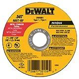 DEWALT DW8061 4-Inch by .045-Inch by 5/8-Inch A60T Abrasive Metal/INOX Cutting Wheel