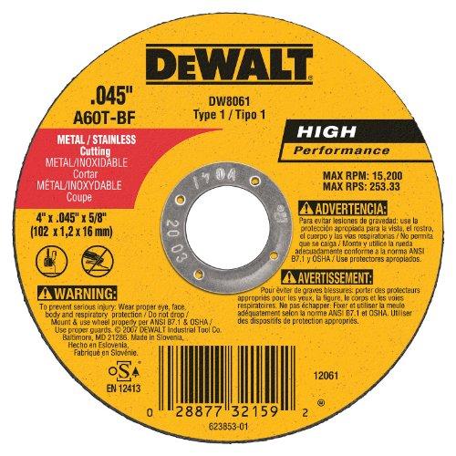 DEWALT DW8061 045 Inch Abrasive Cutting