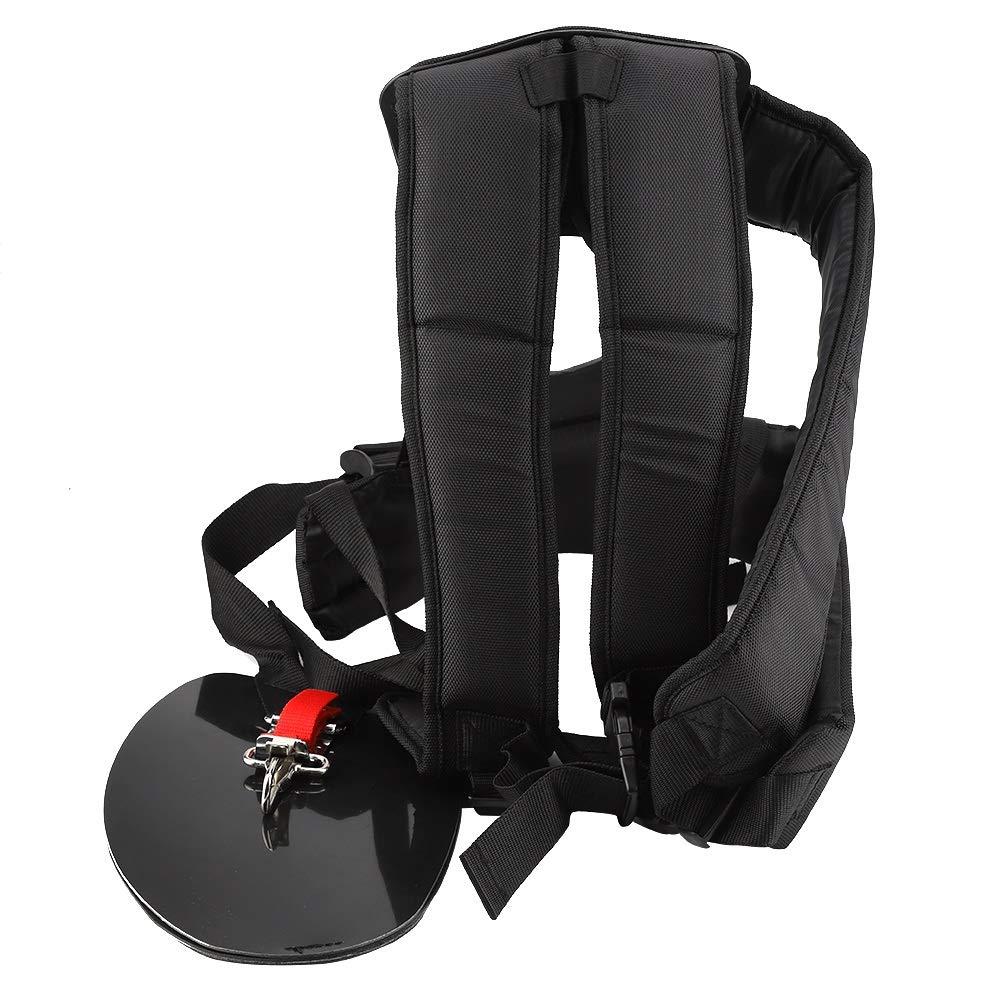 Universal Trimmer Adjustable Double Shoulder Harness Strap, Mower Nylon Y-Shaped Belt,Ideal for Brush Cutter Or Gardenning (Color : Black) by MAGT