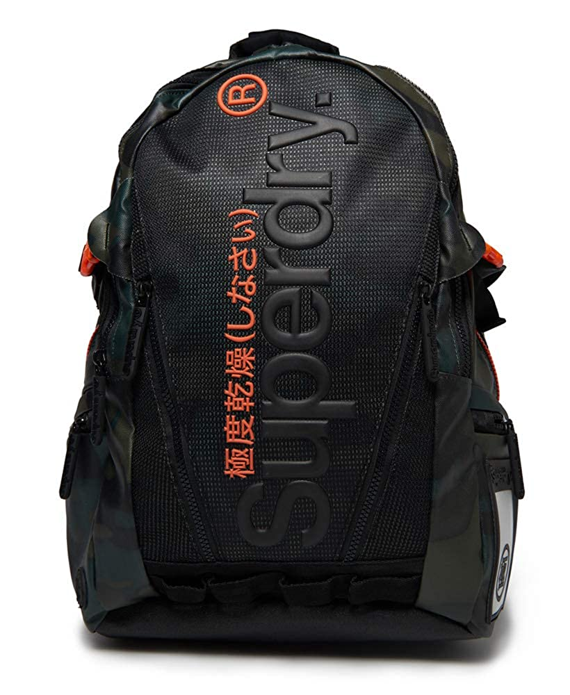 Superdry Accessories Mesh Tarp Backpack Backpack Black//Orange One Size Superdry Apparel M91022DQ